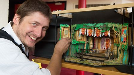 Sinbad Set Desgner Barney George who is transforming the New Wolsey Theatre this Christmas - photo b