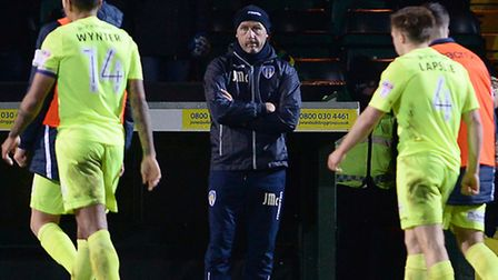 U's boss John McGreal at Yeovil on Saturday after the final whistle