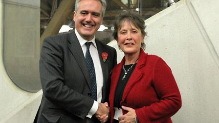 Mark Garnier MP, Under Secretary of State for International Trade, with Denise Rossiter, chief execu