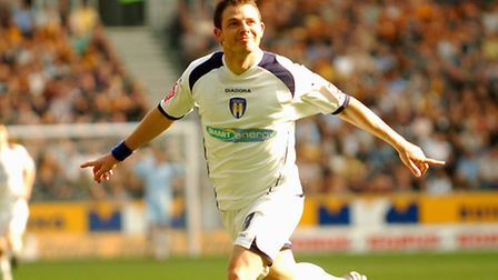 Jamie Cureton, celebrating a goal at Hull City, was a star of the U's Championship campaign of 2006-