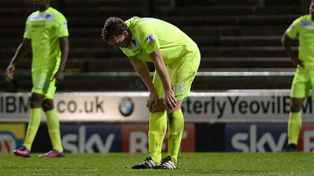 Disappointment for the U's defence, and Tom Eastman in particular, after the Yeovil equaliser during