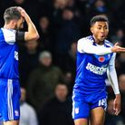 Cole Skuse and Grant Ward react during the Ipswich Town v Nottingham Forest (Sky Bet Championship) m