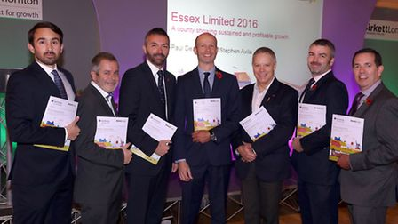 Hosts and panel members at the Essex Limited 2016 event, from left: Stephen Avila, Birkett Long; Ste