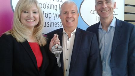 From left, Nicky Daniels, head of Innovation Martlesham, Neil Miles, CEO at Inasigh, and Robin Meeh