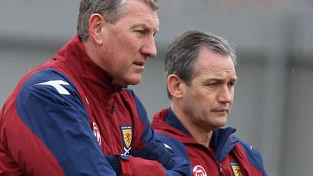 George Burley and Terry Butcher pictured during their time as manager and assistant manager of Scotl