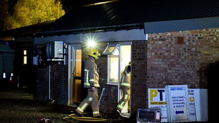 Firefighters tackled a blaze in the clubhouse kitchen at Bury Town FC.