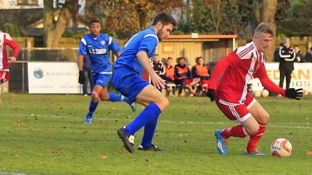 New signing Tom Winter, in action for the Seasiders.