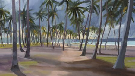Approaching Storm, Western Ghana by Katherine Hamilton which forms part of her new exhibition Landsc