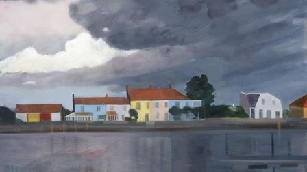 Blackshore, Southwold by Katherine Hamilton which forms part of her new exhibition Landscape Journey