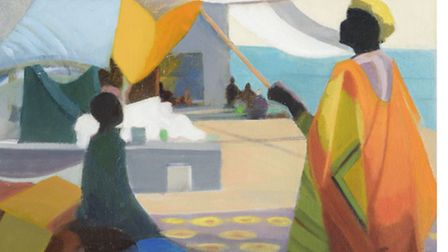 River Journey, Mali by Katherine Hamilton which forms part of her new exhibition Landscape Journeys