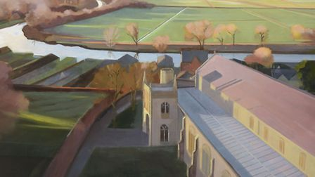 Autumn Marsh, north Suffolk by Katherine Hamilton which forms part of her new exhibition Landscape J