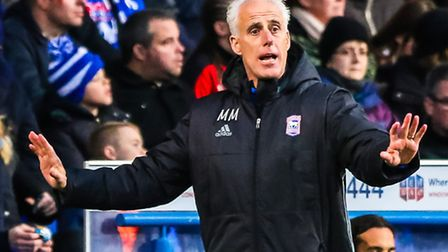 Town manager Mick McCarthy on the touchline during the Ipswich Town v Queens Park Rangers (Sky Bet C
