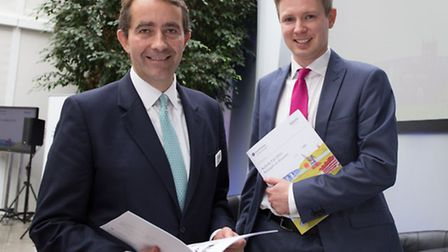 Ian Thoroughgood, associate director at Grant Thornton in Ipswich, right, with Birketts chief execut