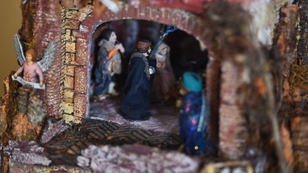 In Italian presepe, the nativity scene forms part of a panorama of community life