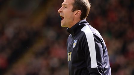David Wright, seen here taking charge of Colchester United's first team as caretaker manager at Barn
