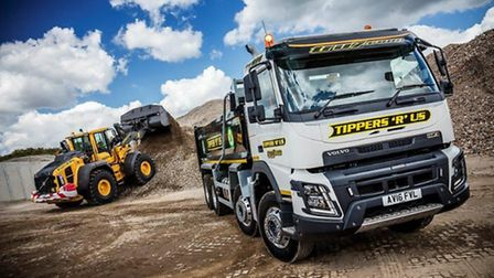 The new headquarters of Tippers 'R' Us and Trucks 'R' Us at Kesgrave, near Ipswich. Photo: Craig Ec