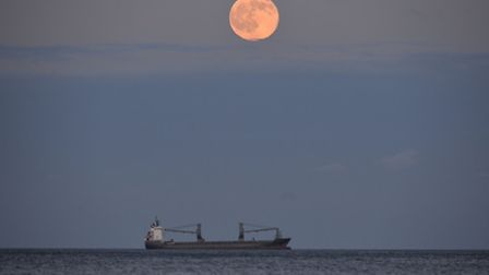 A strawberry moon pictured last year. Photo: Owen Humphreys/PA Wire