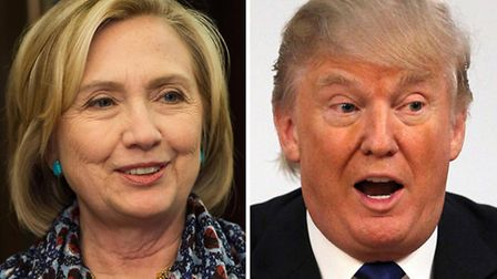 File photos of Hillary Clinton and Donald Trump. Photo: PA Wire