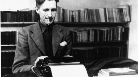 George Orwell and ever-present cigarette. Photo: The Orwell Archive, UCL Library Special Collections