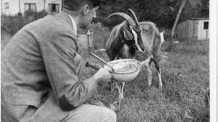 George Orwell was a lover of goats. Honestly. Photo: The Orwell Archive, UCL Library Special Collect