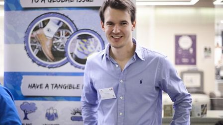 Social entrepreneur Josh Turner, from Stowmarket was invited to showcase his business and products l