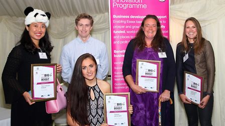 The winners of the Essex BIG Business Boost Awards, from left, Julie Chen, Justin Ott, Chelsey Reyno