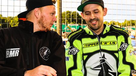 Witches skipper Danny King (right) pictured with Cameron Heeps