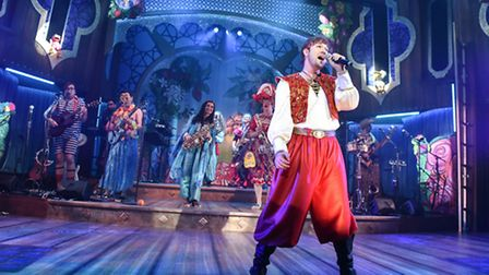 Steve Ruston as Sinbad in Sinbad, the New Wolsey's latest rock'n'roll pantomime