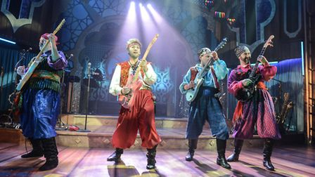 Rob Falconer, Steve Rushton, James Haggie and Daniel Carter-Hope in Sinbad, the New Wolsey's latest