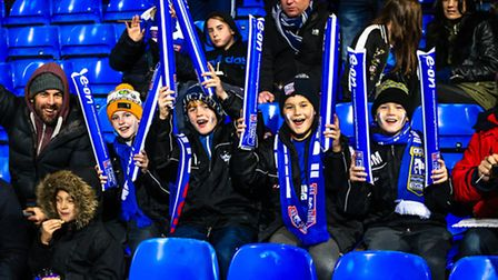 Young supporters at Portman Road. Picture: Steve Waller www.stephenwaller.com