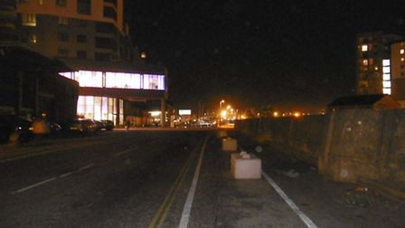 The Stoke Bridge area, at the entrance to Ipswich Waterfront, has no street lights, making it unplea