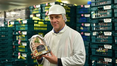 Mark Caston on the factory floor at the 2 Sisters Food Group site in Flixton.