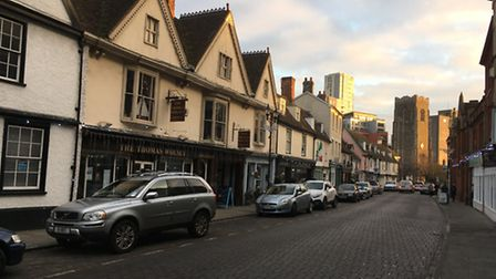 St Peter's Street is home to many independent businesses preparing for Christmas.