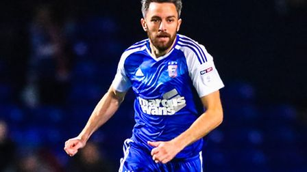 Cole Skuse on the ball during the Ipswich Town v Burton Albion (Sky Bet Championship) match at Portm