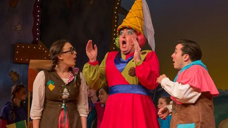 Eamonn Fleming as Molly Muffintop in Bury Theatre Royal's Beauty and the Beast
