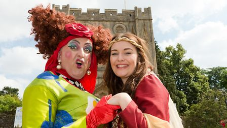 Eamonn Fleming & Helen Slade preparing for some panto fun in Beauty and the Beast at the Theatre Roy
