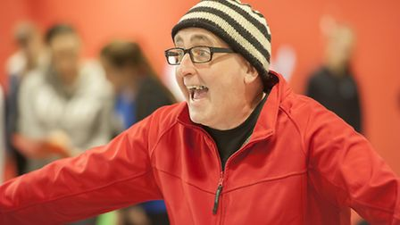 Eamonn Fleming rehearsing Beauty and the Beast at the Theatre Royal, Bury St Edmunds
