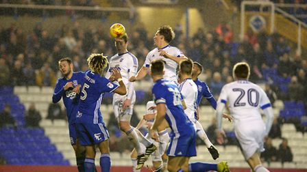 Adam Webster pulling a goal back at Birmingham with a far post header