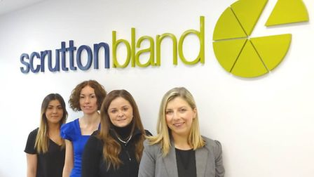 From left, Sophie Earland, Amanda Cornwell, Claire Speakman and Nina Simmons of Scrutton Bland.