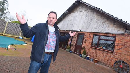 Phil Thompson, of East Bergholt, is involved in a long-running planning row with Babergh District Co