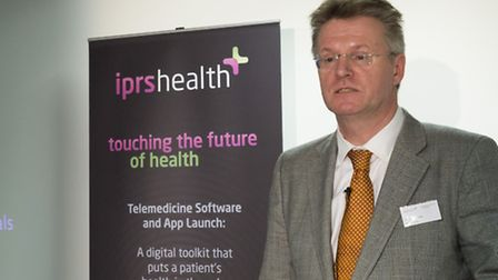 IPRS Healthcare group chief executive Martyn Jackson speaking at the launch in London of the company