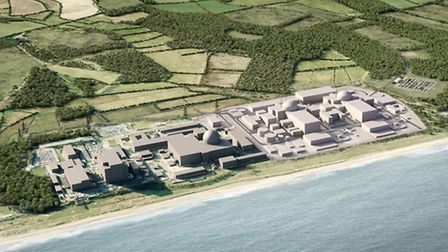 An artist's impression of Sizewell C
