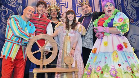 Sheila Ferguson and the cast of Sleeping Beauty, this year's pantomime at the Ipswich Regent