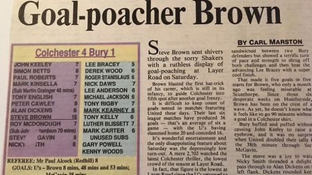 Steve Brown hits the headlines after his hat-trick against Bury