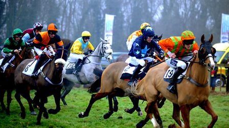 The sights and atmosphere at a damp and misty Dunston Harriers Point to Point meet at Ampton Racecou