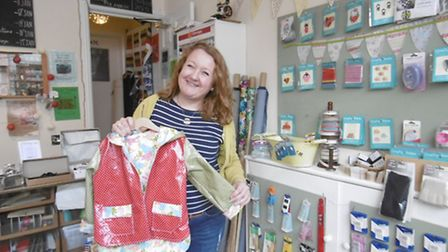 Zoe Woods has been running her fabric, upholstery and sewing business in St Peter's Street, Ipswich