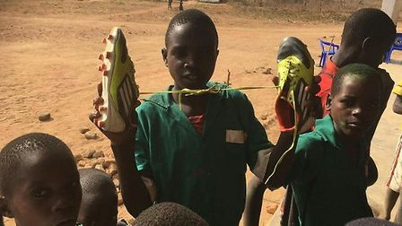 Colchester-based project Boots2Africa aims to send one million pairs of football boots to Africa by