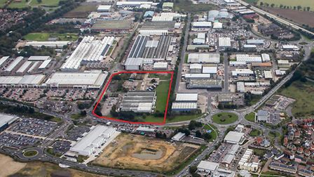 Aerial views, showing the site purchased by John Grose Group Ltd