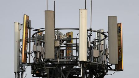 A mobile phone mast in Basingstoke, Hampshire, as Chancellor Philip Hammond said that the investment