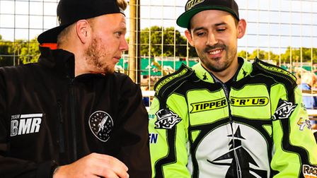 Witches skipper Danny King (right) pictured with Cameron Heeps, who is back in Witches colours in 20